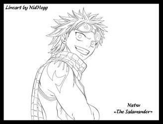 Lineart Natsu by TampTamp