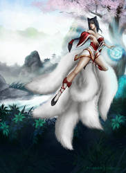 Ahri by bloupsi