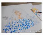 :: Butterfly Girl :: Watercolors WIP by maritery-san