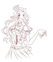 Gaia Online Avy Lineart Ver 2 by ValkyriaCreations