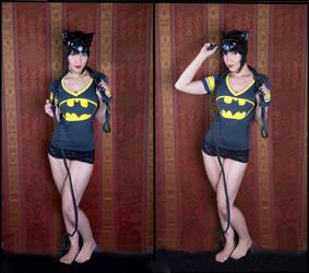 Selina Kyle - Bat Shirt by tenleid