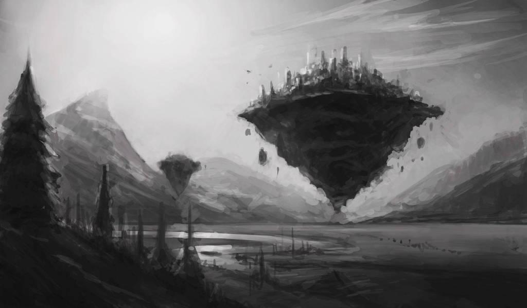 Flying Island by Defreeee