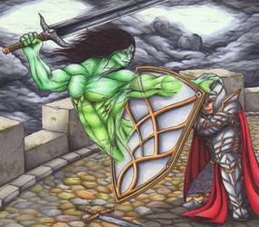 Phantom Warrior by Ganjamira