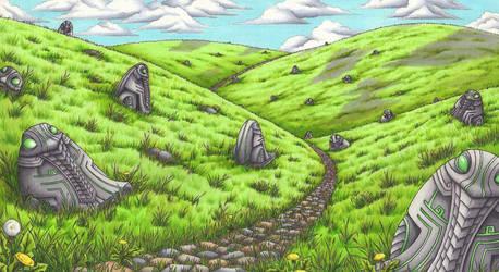 Highland of thousand Toads by Ganjamira