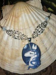 The Last Unicorn - Necklace by Ganjamira