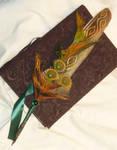 Phoenix of Life - handpainted Featherquill by Ganjamira
