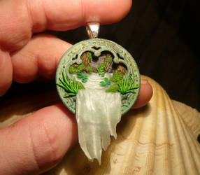 Sacred Waterfall - handmade Pendant by Ganjamira