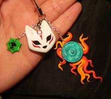 Okami - handmade Keycharm by Ganjamira