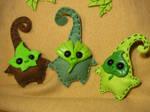 Little Plantpals - Mini Feltplushies by Ganjamira