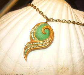 Kokiri Emerald - Pendant with real Emerald by Ganjamira