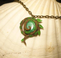 Real Kokiri Emerald - Pendant with Emerald by Ganjamira