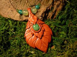 Whisperleaves Talisman - handmade Necklace II by Ganjamira