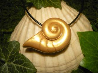 Ursula's Magic Shell - handmade Charm by Ganjamira