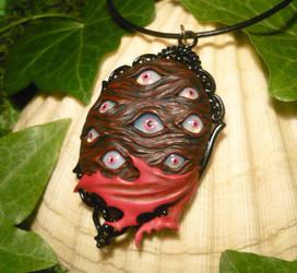 Eyes for Days - handsculpted Pendant - Alucard by Ganjamira