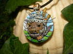 Howls Moving Castle - handsculpted 3D Pendant by Ganjamira