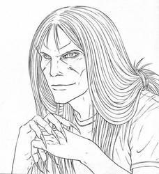 Portrait of Simon - Outlines by Ganjamira