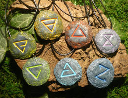 The Witcher Signs - handmade Charms by Ganjamira