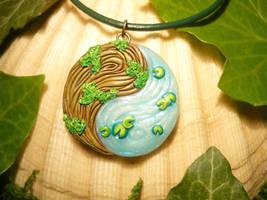 Yin and Yang - handsculpted Pendant by Ganjamira