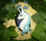 The Last Unicorn IV - handsculpted Cameo Pendant by Ganjamira