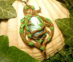 Dryads Lost Heart - handmade Pendant by Ganjamira