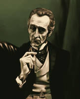 Peter Cushing Portrait by evilengine9