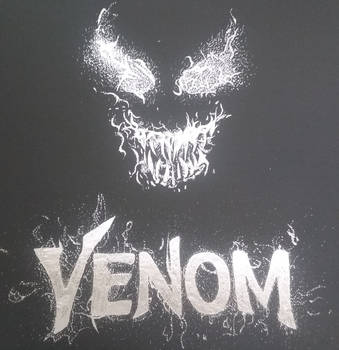 Art Project 1 - Venom Scratchboard by SuperMidna03