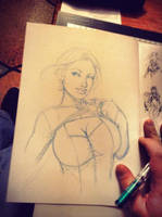 powergirl sketchbook by JwichmanN