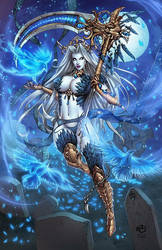 Lady Death - Morrigan by JwichmanN