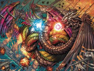 Kaiju Epic 1 - Battle For San Diego Variant by JwichmanN