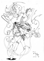 Fire dancer by Nefeldta