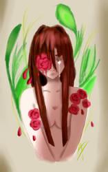 Sad Flowers by AriaGaxaum
