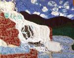 Fabric Waterfall by Tealya