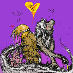 InuDeiKago fox family by KeybladeFoxsquirrel