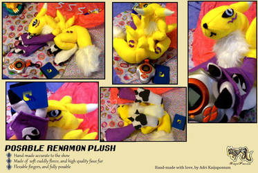 Updated Renamon Plushie! FOR SALE by KeybladeFoxsquirrel