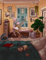 [DTA] - Sleepy Unicorn by telly-bean