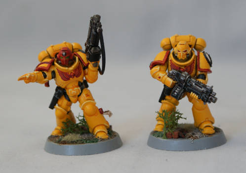 Space Marine Imperial Fists Primaris Intercessors3 by jc2406