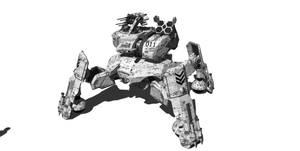 Assualt Quad Walker (Front view) by lukenxn1234