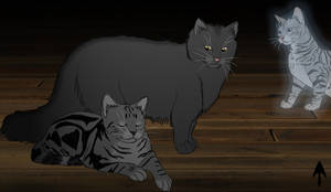 Graystripe and Millie by The-Demon-Ferret