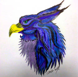 Blue griffen by Corvus-wolf