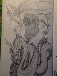 (Dragon) Sketch Dump by emmacairnmccallum