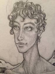 Male Face Practice (Detail) by emmacairnmccallum