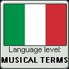 Italian Language Level- Musical Terms by DanksForTheMemeries