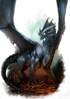 Bluish Dragon by yigitkoroglu