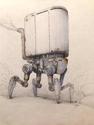 Air Cleaner Sketch by yigitkoroglu