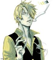 Smokin' Sanji by LottaHart