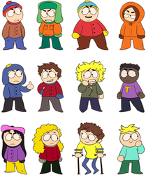 South Park Chibs by MikkyBe