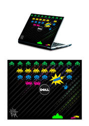 Invaders - Laptop design by napocska