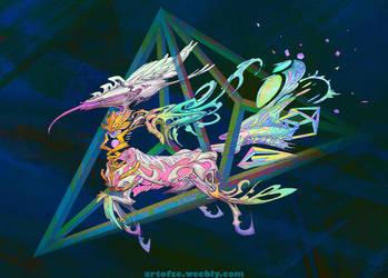 Centaur God Hayagreva and His Chariot by silent-rage