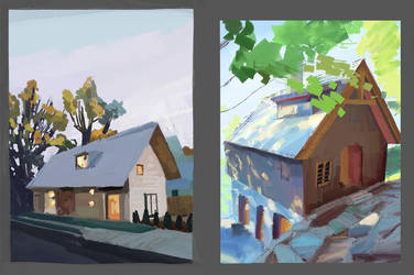 Study from photos, houses by silent-rage