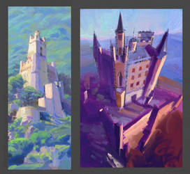 Study from photos, castles by silent-rage
